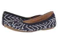 Bandolino Edition Tribal Print Blue Tribal Print Canvas Super Soft Patent Syntheti Women's Flat Shoes
