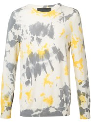 The Elder Statesman Cashmere Tie Dye Jumper White