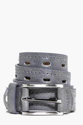 Boohoo Pu Belt With Double Topstitch Grey