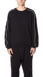 3.1 Phillip Lim Crew Neck Sweatshirt With Track Stripe Black