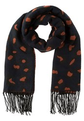 Evenandodd Scarf Dark Blue Coral