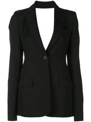 Vera Wang Cutout Back Jacket Black