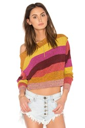 Free People Candyland Pullover Red