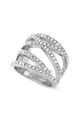 Women's Vince Camuto Negative Space Pave Ring Silver