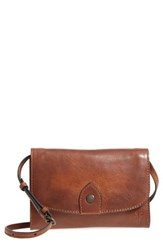 Frye Melissa Leather Crossbody Bag Brown Cognac