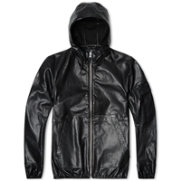 Stone Island Shadow Project Leather Hooded Short Parka Black