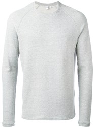 Aspesi Crew Neck Sweatshirt Men Cotton S Grey