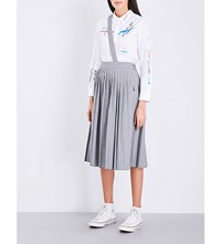 Chocoolate Pleated Skirt Grey