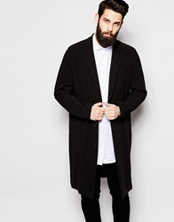River Island Longline Duster Coat Black