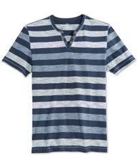 Inc International Concepts Men's Textured Striped T Shirt Only At Macy's Basic Navy