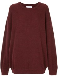 Strateas Carlucci Macro Knit Sweater Red