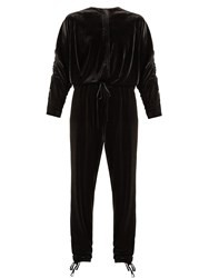 Preen Line Ruby Stretch Velvet Jumpsuit Black