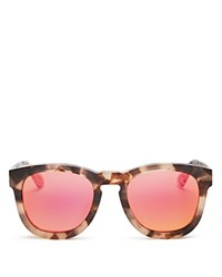 Wildfox Couture Classic Fox Wayfarer Mirror Sunglasses 52Mm Brown Pink Mirror