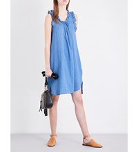 Ag Jeans Dixie Cotton Chambray Dress New Blue