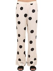 Love Stories Polka Dot Satin Pajama Pants Array 0X57f5e40