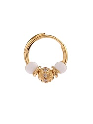Elise Dray Diamond Agate And Yellow Gold Mini Rock Earring