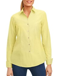 Foxcroft Casual Button Down Shirt Sunflower