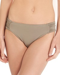 Lablanca Island Goddess Shirred Side Hipster Swim Bikini Bottom Pebble