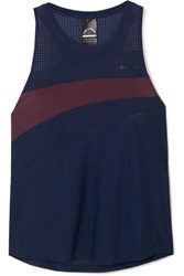 The Upside Track Striped Stretch Tank Navy