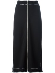 Mcq By Alexander Mcqueen Zipped Front Midi Skirt Black