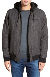 Men's Rvca 'Knox' Herringbone Jacket With Removable Hood