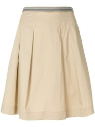 Paul Smith Ps By A Line Pleated Skirt Nude And Neutrals