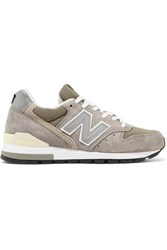 New Balance 996 Bringback Suede And Mesh Sneakers Gray