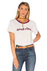 Spiritual Gangster Good Vibes Mini Heart Tee Light Gray