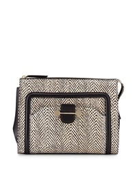Jason Wu Daphne 2 Watersnake Clutch Bag Nude Black