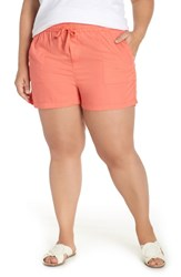 Caslon Pull On Twill Shorts Coral Rose