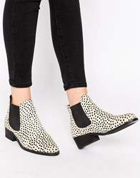 Warehouse Animal Print Leather Chelsea Boots Blackpattern