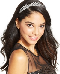 Josette Metal Leaves Headband Silver