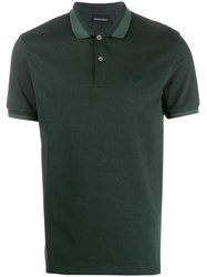 Emporio Armani Contrast Trim Polo Shirt Green
