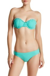 Betsey Johnson Ruffle Underwire Bandeau Top Blue