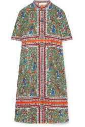 Tory Burch Printed Cotton Voile Kaftan Blue