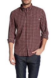 Timberland Long Sleeve Button Down Slim Fit Shirt Red