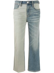 Current Elliott Two Tone Jeans Blue