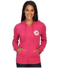 Life Is Good Keep It Simple Daisy Go To Zip Hoodie Rose Berry Women's Sweatshirt Pink