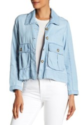 Jolt Chambray Jacket Juniors Blue