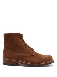 Grenson Joseph Lace Up Suede Boots Brown