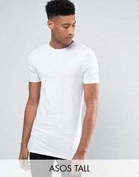 Asos Tall Longline Muscle T Shirt In White White