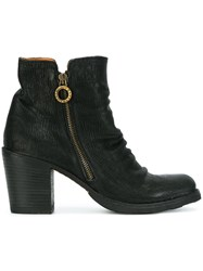 Fiorentini Baker Crease Effect Zip Ankle Boots Black