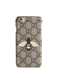 Gucci Bee Printed Iphone 6 Case Beige Multicolor
