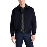 Cifonelli Reversible Cashmere And Tech Taffeta Bomber Jacket Navy