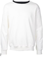 3.1 Phillip Lim Contrast Neck Jumper White