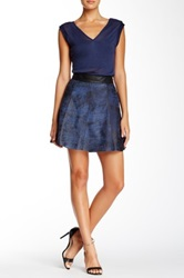 Stella And Jamie Mystic Leather Mini Skirt Blue