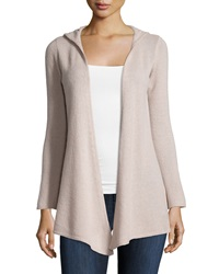 Minnie Rose Cashmere Hooded Duster Cardigan Driftwood