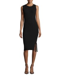 Akris Punto Sleeveless Knit Midi Dress Navy