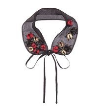 Red Valentino Ladybird Embroidered Collar Female Black
