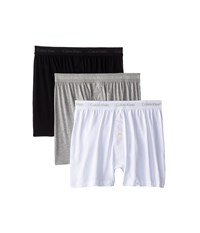 Calvin Klein Underwear Cotton Classic Knit Boxer 3 Pack Nu3040 White Black Grey Men's Underwear